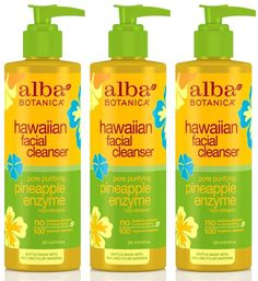 Alba Botanica Hawaiian, Pineapple Enzyme Facial Cleanser, 8 Ounce (Pack of 3) >>> This is an Amazon Affiliate link. More info could be found at the image url.