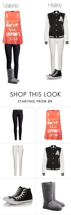 """""""Hails and Val"""" by stanbro2001 ❤ liked on Polyvore featuring H&M, Paige Denim, Parisian, Converse and UGG Australia"""