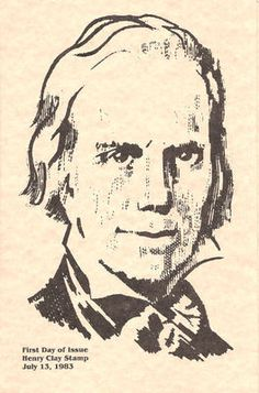 1846 FD Program 3c Henry Clay Stamp