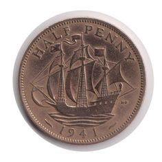 Your place to buy and sell all things handmade English Coins, George Vi, Old Coins, Coding, Polish, How To Make, Etsy, Coins, Boats