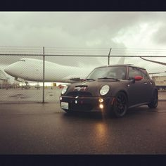 Mini in the rain