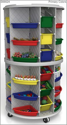 """58"""" high Mobl Lite Storage Tower, Granite Gray from Honor Roll Childcare Supply - Daycare Furniture and Preschool Supplies"""