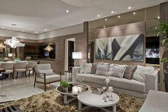 Cozinha preta integrada às salas de estar e jantar - maravilhosa! Confira todos os detalhes! - DecorSalteado