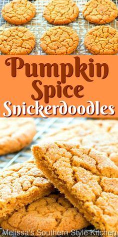 Pumpkin Recipes, Fall Recipes, Sweet Recipes, Holiday Recipes, Easy Pumpkin Desserts, Baking Recipes, Dessert Recipes, Easy Cookie Recipes, Breakfast Recipes
