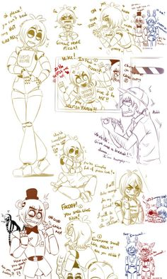 [Fnaf] Chica Sketches by YumeChii-NI on DeviantArt