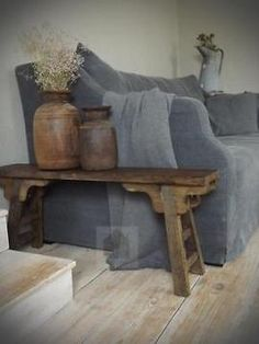 The couch is so much bigger than the side table. - - The couch is so much bigger than the side table. Home Furniture, Furniture Design, Deco Nature, Modern Rustic Decor, Living Spaces, Living Room, Interior Decorating, Interior Design, Small Room Bedroom