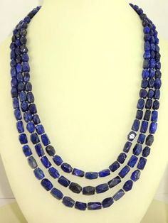 natural untreated lapiz lazuli  necklace