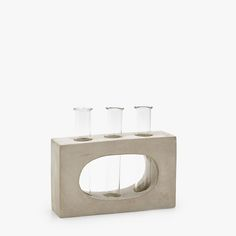 Image 1 of the product GLASS TEST TUBE DECORATIVE FIGURE WITH CEMENT STRUCTURE