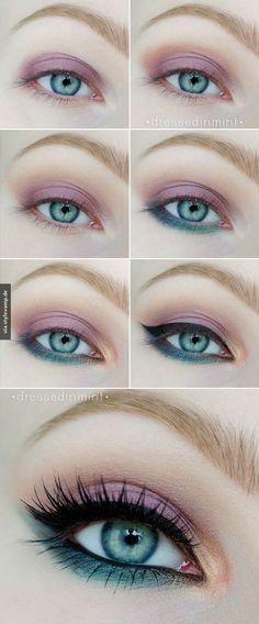 Mut zur Farbe: Das perfeke Make-Up für blaue Augen *__*
