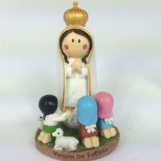 Estatueta da Nossa Senhora de Fátima - Tamanho: 13cm