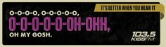 loving these 103.5 kiss fm ads, from ad agency ogilvy & mather in chicago.