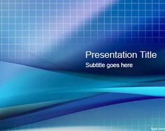 Blue Grid PowerPoint Template