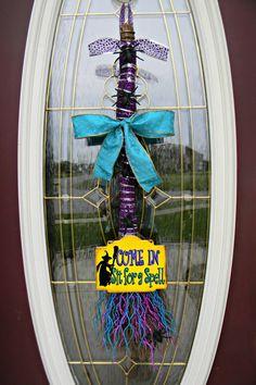 Halloween Holidays Broom Swag Door DecorSit by AnExtraordinaryGift, $56.00