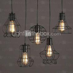 Lampe suspendue Rustique Peintures Fonctionnalité for Style mini