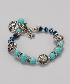 Take a look at this Turquoise & Silver Bracelet by Gabrielle Jewelry on #zulily today!