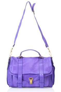Proenza Schouler PS1 Large Shoulder Bag In Purple Rain