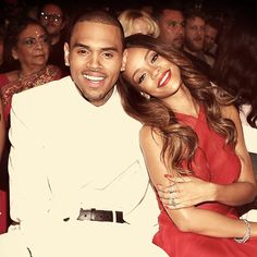 Chris Brown and Rihanna at the Grammys