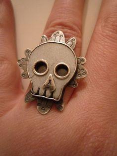 Victorian Skull ring by amuckdesign on flickr