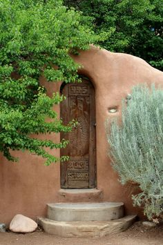 Santa Fe, New Mexico ~ Beautiful Doors Old Doors, Windows And Doors, Chillout Zone, Fachada Colonial, New Mexico Style, Santa Fe Nm, Santa Fe Style, Adobe House, Land Of Enchantment