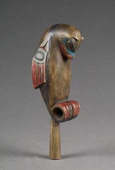 Northwest Coast Otter Rattle, 2004, American Indian Art Auction ... American Indian Art, Native American Art, Totem Tattoo, Haida Art, Inuit Art, Stone Carving, Wood Carving, Indigenous Art, People Art
