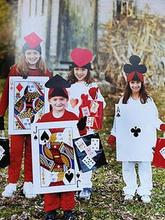 For the cards-men, I chose to stick with a similar costume. This costume is easily portrayed by using a big card on the front and backs of the characters. For this role, there is no specific actor or actress because the people playing this role can be an ensemble. The make up for the cards-men are shown below.