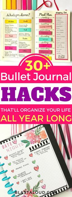 If you love bullet journaling, you'll love these 30+ awesome bullet journal ideas and layouts to try in your bullet journal. Keep your life organized and on track with these bullet journal ideas. #bujo #bulletjournal #organize