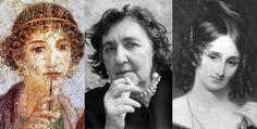 Le 10 scrittrici ''dannate'' della letteratura  top ten scrittrici dannate, Saffo, Alda Merini, Mary Shelley, Virginia Woolf, Sylvia Plath libreriamo.it