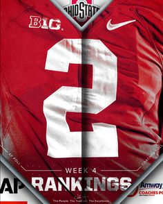 9-18-2016 THE OHIO STATE UNIVERSITY IS RANKED #2 IN THE POLLS.......GO BUCKS!