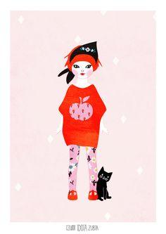 "Artprint doll ""Hannah"" (serie Dolls vintage)"