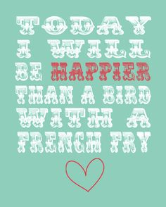 Happier Than a Bird with a French Fry 8x10 by AtticDestash on Etsy, $12.00. add to your favorites list on etsy for coupon code!