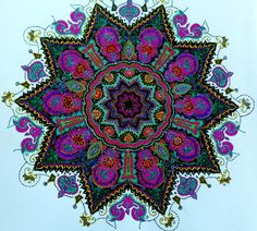 Mandala coloring, by Alicia