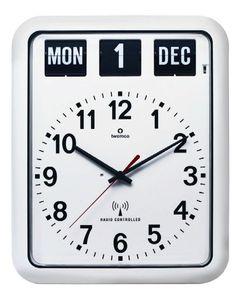 【楽天市場】【TWEMCO】 トゥエンコ カレンダー電波時計 RC-12Aホワイト TWEMCO掛け時計:インテリア雑貨 セシセラ