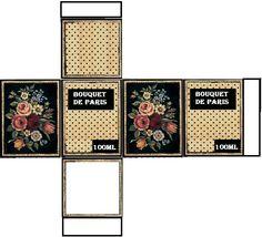 Boite rectangulaire haute images bouquet de Paris - création Pascale Appiani