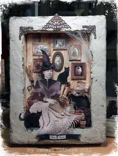 **My Desert Cottage**: Witchy Woman Shadowbox