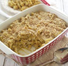 Butternut Mac-n-Cheese (dairy free, gluten free, grain free) :: butternut squash, coconut milk, butter, herbamare, paprika, allspice, garlic powder, Tinkyada noodles, 2 brown rice tortillas.