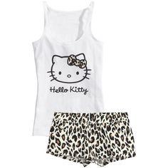 H&M Pyjamas ($12) ❤ liked on Polyvore featuring intimates, sleepwear, pajamas, pijamas, pyjamas, tops, black, black pajamas and h&m