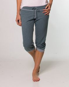 Pixie Pajama Pant by Marine Layer. If I owned these I doubt I'd take them off.... Ever