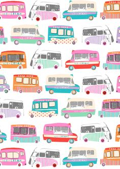 Dawn Bishop: ice-cream vans for M & S | Dawn Draws