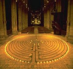 Spiritual Labyrinth at Chartres Cathedral, France.