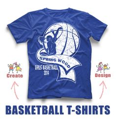 Basketball t shirt idea 39 s on pinterest basketball for Where can i order custom t shirts