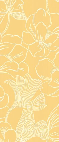 Helleborus by Farrow & Ball - Yellow - Wallpaper : Wallpaper Direct