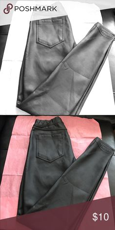 Pleather Leggings Why pay for Leather when you get look just as good in pleather (plus a better price ) ! Awesome pleather leggings not even a year old, size Small! Love these leggings but between a management job and a three year old I don't get to wear them much! They are looking for a good home and time :) Xhilaration Pants Leggings