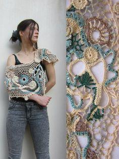 Crochet Shawl Wrap  Freeform Crochet  Bolero Shrug by MARTINELI