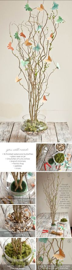 Twig & Butterfly Centerpiece Tutorial / http://www.himisspuff.com/diy-wedding-centerpieces-on-a-budget/48/