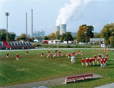 Mitch Epstein, Poca High School and Amos Coal Power Plant, West Virginia 2004 Colour Photography, Street Photography, Heart Photography, Ways Of Seeing, New York Museums, Getty Museum, Whitney Museum, American Made, Contemporary Photography