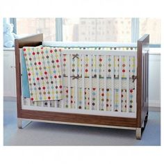 I love this bedding, but i am biased as it's the bedding I chose for my son - skip hop mod dot bedding set