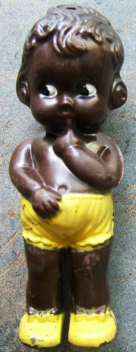 Look what I found on @eBay! http://r.ebay.com/RlUXBm Black Girl Hard Plastic Baby Rattle Toy Vintage 1930s 1940s RB Made In Canada