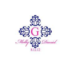 Digital Wedding Monogram Wedding Logo Custom Wedding by BridalBust