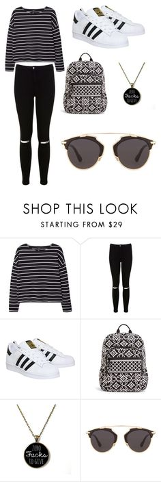 """only black"" by nastiakr ❤ liked on Polyvore featuring MANGO, Miss Selfridge, adidas, Vera Bradley and Christian Dior"