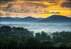 Welcome to Asheville NC - Blue Ridge Mountains Sunset by Dave Allen Photography, via Flickr